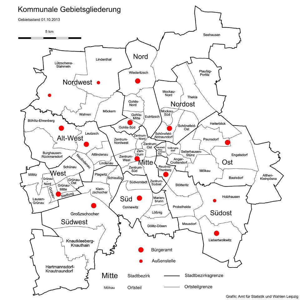 Leipzig Karte Mit Stadtteilen.Ortsamter Leipzig Burgeramter